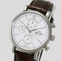 IWC Portofino Chronograph pre-owned Silver Leather