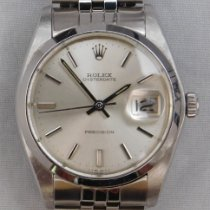 Rolex Oyster Precision pre-owned 34mm Silver Date Steel