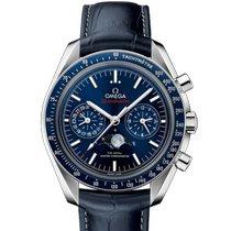 Omega Speedmaster Professional Moonwatch Moonphase Acero Azul Sin cifras