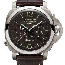 Panerai Luminor 1950 8 Days Chrono Monopulsante GMT nuevo Cuerda manual Cronógrafo Reloj con estuche y documentos originales PAM 00311
