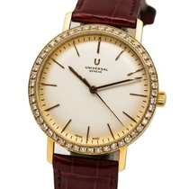 Universal Genève Microtor Yellow gold 36mm Silver No numerals