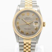 Rolex Datejust Guld/Stål 36mm Perlemor Ingen tal