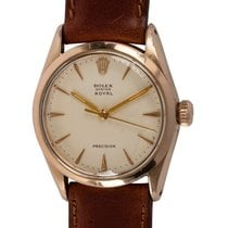 Rolex Oyster Precision pre-owned 34mm Silver Leather