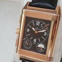 积家 Grande Reverso Duo 二手 46mm 银色 月相功能 日期 格林尼治标准时间(GMT) 皮