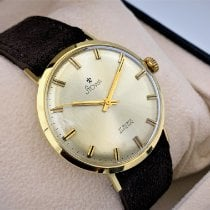 Stowa Yellow gold Automatic Silver No numerals 34mm pre-owned