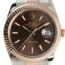 Rolex Datejust II Or/Acier 41mm Brun