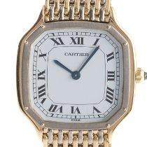 Cartier Желтое золото Механические Белый 22mm подержанные Santos Dumont