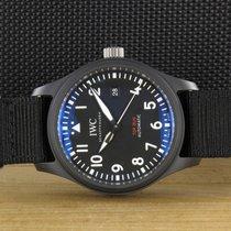 IWC Cerâmica Automático Preto 41mm usado Pilot Chronograph Top Gun