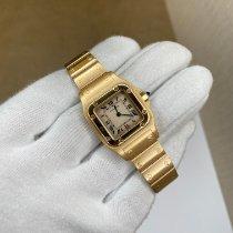Cartier Желтое золото Кварцевые 24mm подержанные Santos Galbée