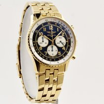 Breitling Yellow gold Automatic Black Arabic numerals 38mm pre-owned Navitimer