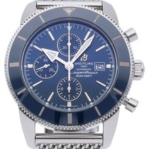 Breitling Ceramic Automatic Blue 46mm pre-owned Superocean Heritage II Chronographe