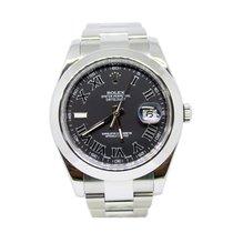 Rolex Datejust II Stahl 41mm Grau Keine Ziffern