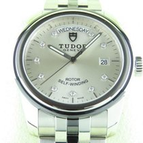 Tudor Glamour Date-Day Steel 39mm Silver No numerals