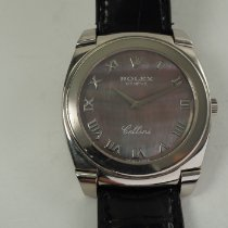 Rolex Cellini Date White gold 36mm Mother of pearl Roman numerals