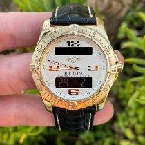 Breitling Yellow gold Quartz White Arabic numerals 42mm pre-owned Aerospace Avantage