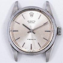 Rolex Oyster Precision Steel 34mm Silver No numerals United States of America, Oklahoma, Oklahoma City