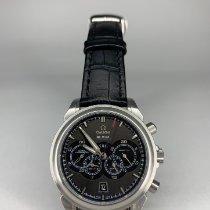 Omega De Ville Co-Axial подержанные 44mm Коричневый Хронограф Дата GMT/две час.зоны Кожа