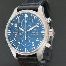IWC Pilot Chronograph usados 43mm Negro Cronógrafo Fecha Piel de aligátor