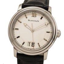 Blancpain Léman Сталь 40mm Белый Без цифр