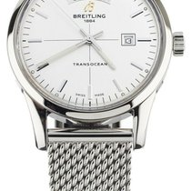 Breitling Transocean Day & Date Steel 43mm Silver United States of America, Illinois, BUFFALO GROVE