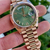 Rolex Day-Date 40 Rose gold 40mm Green United States of America, Texas, Houston