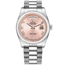Rolex Platinum Automatic Pink 36mm pre-owned Day-Date 36
