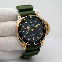 Panerai Luminor Submersible 1950 3 Days Automatic pre-owned 42mm Black Date Crocodile skin