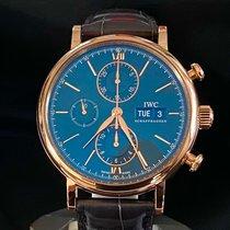 IWC Portofino Chronograph pre-owned 42mm Blue Crocodile skin