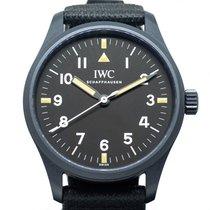 IWC 세라믹 자동 검정색 아라비아 숫자 39mm 중고시계 Pilot