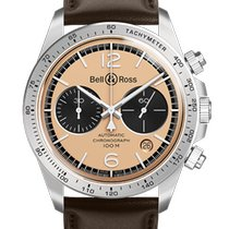 Bell & Ross BR V2 Steel 41mm Brown Arabic numerals