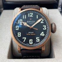 Zenith Pilot Type 20 Extra Special Bronze 45mm Sort Arabertal