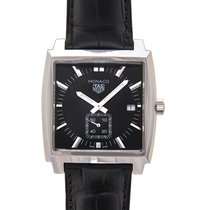 TAG Heuer Monaco Lady Steel 37mm Black No numerals