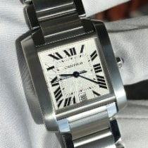 Cartier Tank Française Gold/Steel 28mm White Roman numerals United States of America, Texas, Frisco