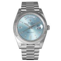 Rolex Day-Date 40 Platina 40mm Blauw Nederland, Purmerend