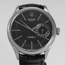Rolex Cellini Date Oro bianco 39mm Nero Senza numeri