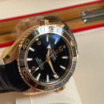 Omega Red gold Automatic Black 42mm new Seamaster Planet Ocean