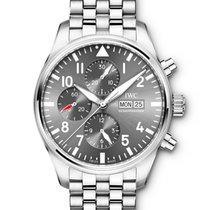 IWC Pilot Spitfire Chronograph Steel 43mm Grey Arabic numerals United Kingdom, Wilmslow