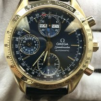 Omega Speedmaster Day Date Yellow gold 39mm Blue