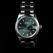 Rolex Lady-Datejust Staal 31mm Groen Romeins Nederland, Zoetermeer