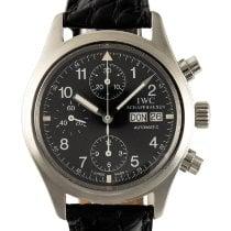 IWC Fliegeruhr Chronograph Stahl 39mm Schwarz