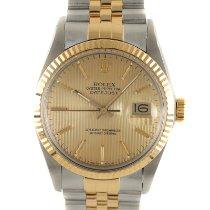 Rolex Datejust Золото/Cталь 36mm Золотой