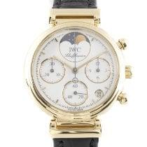 IWC Da Vinci Chronograph Желтое золото 28mm Белый