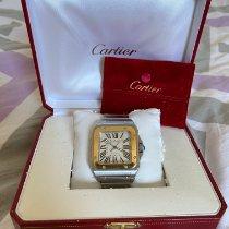 Cartier Santos 100 Золото/Cталь 38mm Cеребро Римские