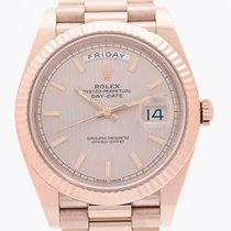 Rolex Day-Date 40 Rose gold 40mm Pink Roman numerals