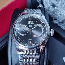 Oris Artelier Calibre 113 Steel 43mm Grey Arabic numerals