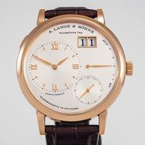 A. Lange & Söhne Grand Lange 1 Rose gold 40.9mm Silver Roman numerals