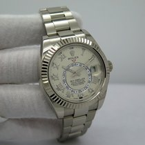 Rolex White gold Automatic Roman numerals 42mm pre-owned Sky-Dweller