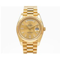Rolex Day-Date 40 Geelgoud 40mm Champagne