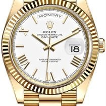 Rolex Day-Date 40 Yellow gold 40mm White United States of America, New York, New York