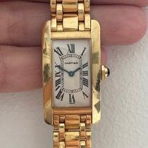 Cartier Tank Américaine Yellow gold 33mm White Roman numerals
